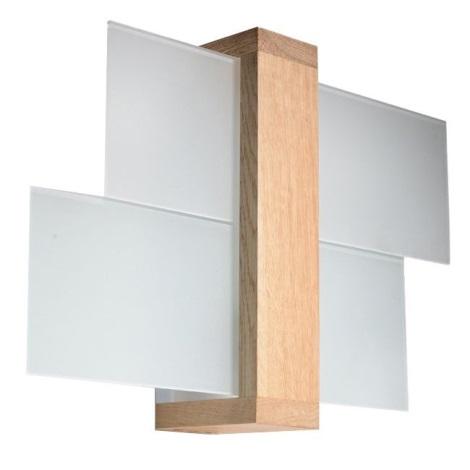 Aplique FENIKS 1 1xE27/60W/230V madera natural