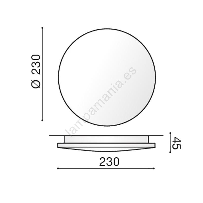 Azzardo AZ2852 Plafón LED de exterior ANCONA 1xLED24W230V IP54