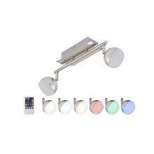 Briloner 2040-022 - LED RGB Foco regulable 2xLED/3,3W/230V + control remoto