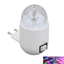 Briloner 2668-016 - LED RGB Lámpara infantil con interruptor NIGHT 1xLED/3W/230V