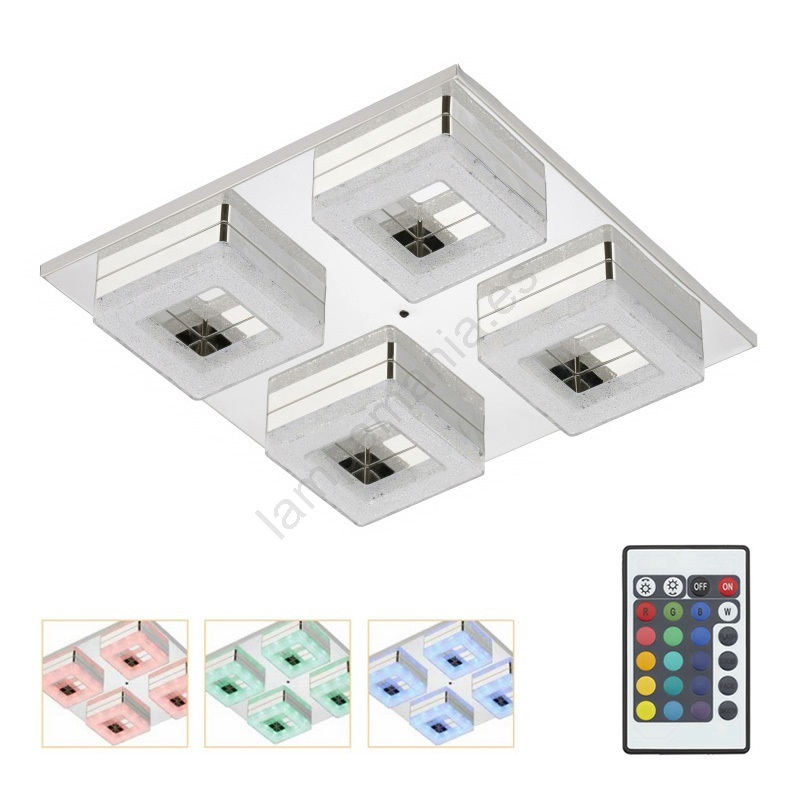 3495 048 Plafón Duo Briloner Led Regulable 4xled3 5w 8wOPkn0X