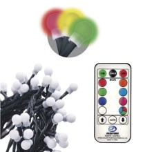 Cadena decorativa LED con mando a distancia CHAIN 96xLED/3,6W/230V IP44