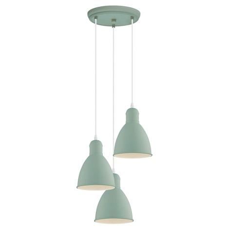 EGLO 49095 - Lámpara colgante PRIDDY-P 3xE27/60W/230V