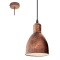 Eglo 49492 - Lámpara colgante PRIDDY 1 1xE27/60W/230V