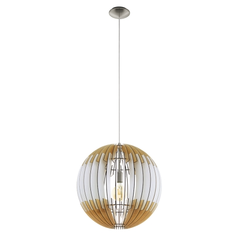 Eglo 79141 Lámpara suspendida con alambre OLMERO I 1xE2760W230V hnědo blanco
