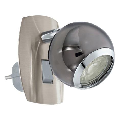 Eglo 96841 - Foco LED enchufable BIMEDA 1xGU10/3,3W/230V gris