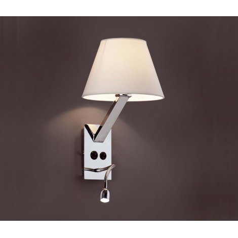 FARO 68506 Aplique LED MOMA 1xE2760W100 240V + 1xLED1W