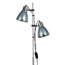 Ideal Lux - Lámpara de pie 2xE27/60W/230V plateado