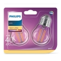 KIT 2xBombilla LED VINTAGE E27/4W/230V 2700K - Philips