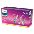 KIT 3x Bombilla LED Philips E27/4,3W/230V 2700K
