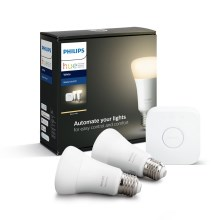 Kit básico Philips HUE STARTER KIT 2xE27/9W + dispositivos de interconexión
