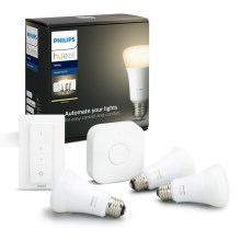 Kit básico Philips HUE STARTER KIT 3xE27/9W + dispositivos de interconexión