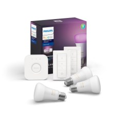 Kit básico Philips HUE WHITE AND COLOR AMBIANCE 3xE27/9W/230V