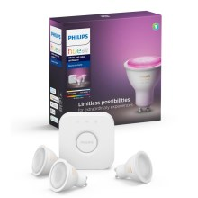 Kit básico Philips HUE WHITE AND COLOR AMBIANCE 3xGU10/5,7W/230V
