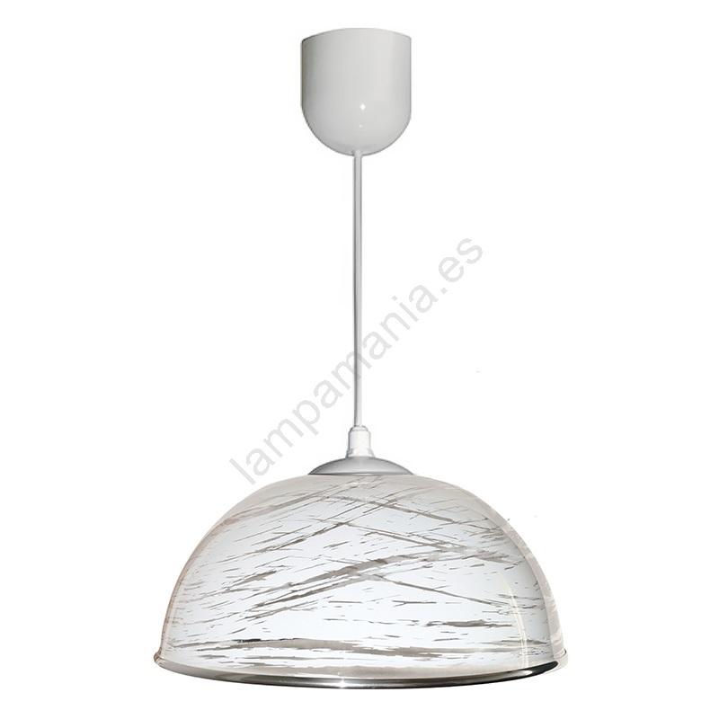 1xE2760W Lámpara AKRYL colgante blanco abstracto KS 5Rjq4AL3