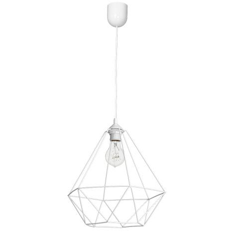 Lámpara colgante BASKET 1xE27/60W/230V blanca