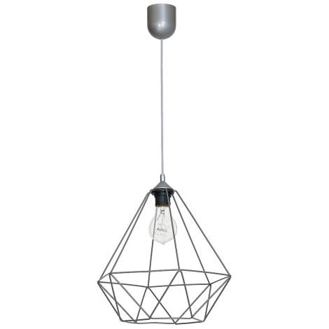 Lámpara colgante BASKET 1xE27/60W/230V gris