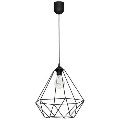 Lámpara colgante BASKET 1xE27/60W/230V negra