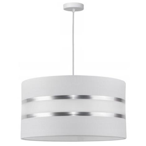 Lámpara colgante CORAL 1xE27/60W/230V blanco