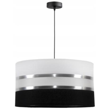 Lámpara colgante CORAL 1xE27/60W/230V negro-blanco