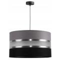 Lámpara colgante CORAL 1xE27/60W/230V negro-gris