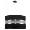 Lámpara colgante CORAL 1xE27/60W/230V negro