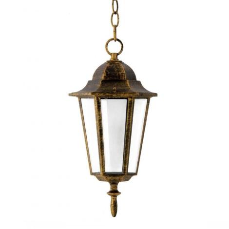 Lámpara colgante exterior 1xE27/60W/230V pátina