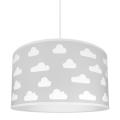 Lámpara colgante infantil CLOUDS GREY 1xE27/60W/230V