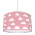 Lámpara colgante infantil CLOUDS PINK 1xE27/60W/230V