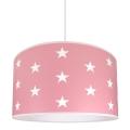 Lámpara colgante infantil STARS PINK 1xE27/60W/230V
