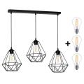 Lámpara colgante LED BASKET 3xE27/7W/230V