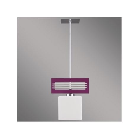 Lámpara colgante SANGA 1xE14/60W morado
