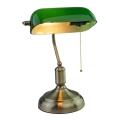 Lámpara de mesa BANKER 1xE27/60W/230V