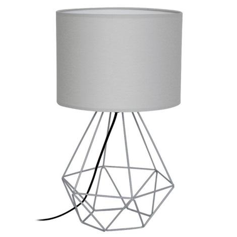 Lámpara de mesa BASKET 1xE27/60W/230V gris