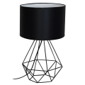 Lámpara de mesa BASKET 1xE27/60W/230V negro