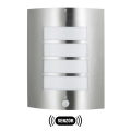 Lámpara exterior  MEMPHIS con sensor acero inoxidable IP44