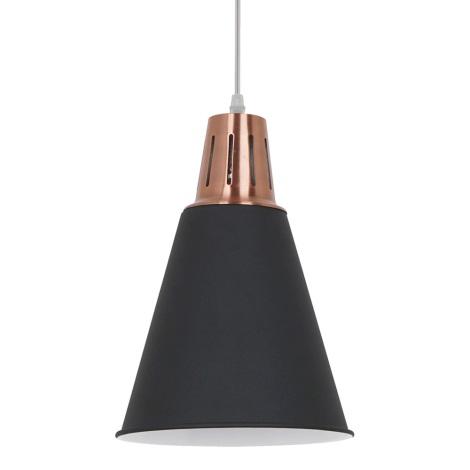 Lámpara LED colgante 1xE27/10W/230V negro 22cm