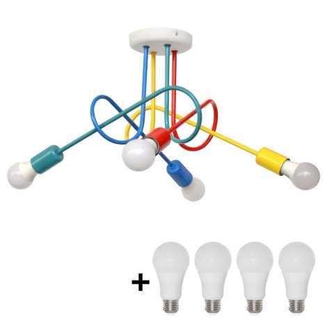 Lámpara LED de techo infantil OXFORD 4xE27/10W/230V
