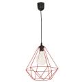 Lámpara suspendida con alambre BASKET 1xE27/60W/230V