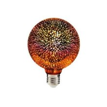 LED 3D Bombilla decorativa G95 E27/3,5W/230V