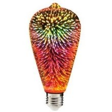 LED 3D Bombilla decorativa ST64 E27/3,5W/230V
