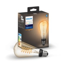 LED Bombilla regulable Philips HUE WHITE FILAMENT ST72 E27/7W/230V 2100K