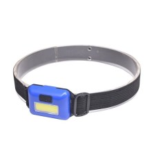LED Linterna frontal LED/3W/3xAAA, azul