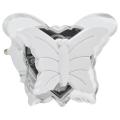 LED luz de noche enchufable LED/0,4W/230V mariposa blanca