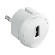 Legrand 50680 - Adaptador USB con enchufe 230V/1,5A blanco