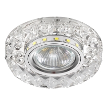 Luxera 71074 - Iluminación empotrable de techo CRYSTALS 1xGU10/50W/230V + LED STRIPE