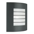 Massive 01726/01/93 - Aplique exterior OSLO 1xE27/60W  gris oscuro IP44