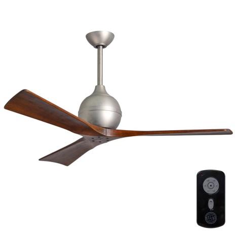Matthews VEN-IR3-60 - Ventilador de techo IRENE 60″ níquel mate/nuez