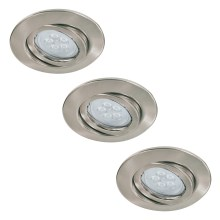 Paulmann 92028 - SET 3x LED Iluminación empotrable QUALITY LINE 3xGU10-LED/6,5W