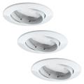 Paulmann 92765 - SET 3x Iluminación LED empotrada de techo COIN 3xLED/6,8W/230V blanco